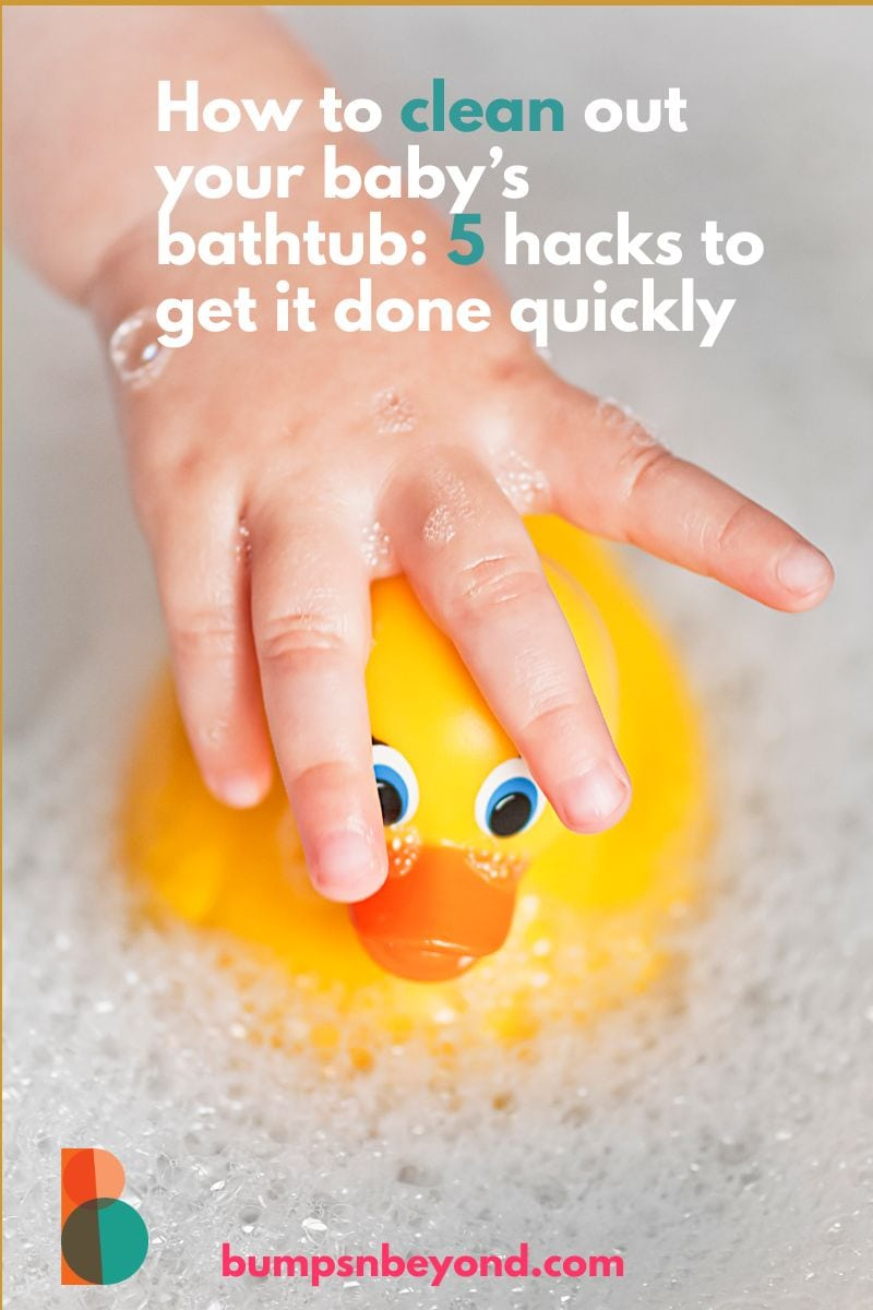 How to clean out your baby's bathtub